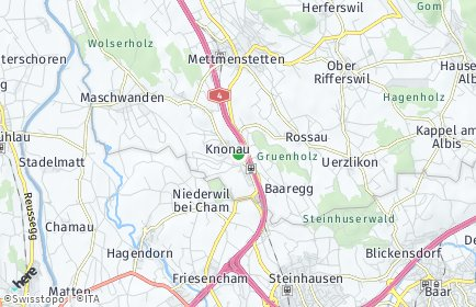 Stadtplan Knonau