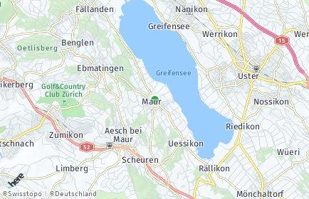 Stadtplan Maur OT Ebmatingen