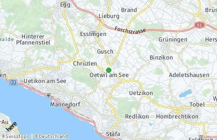 Stadtplan Oetwil am See