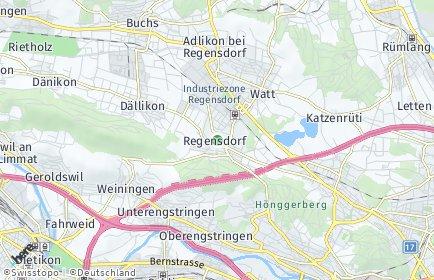 Stadtplan Regensdorf OT Adlikon