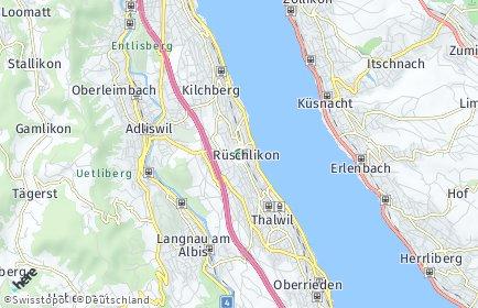 Stadtplan Rüschlikon