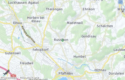 Stadtplan Russikon