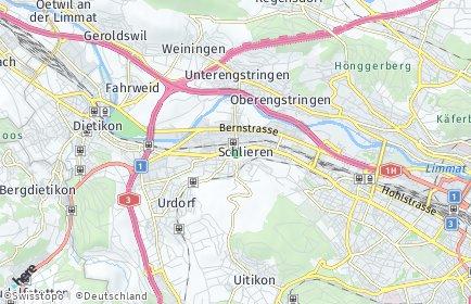 Stadtplan Schlieren