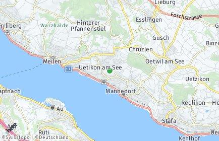 Stadtplan Uetikon am See