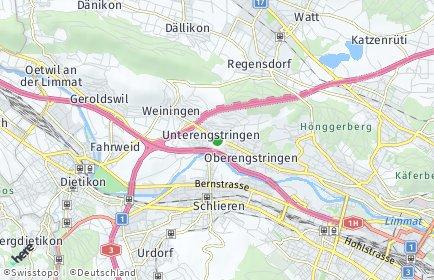 Stadtplan Unterengstringen