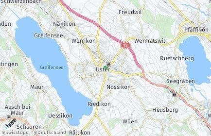 Stadtplan Uster OT Winikon-Gschwader