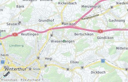 Stadtplan Wiesendangen