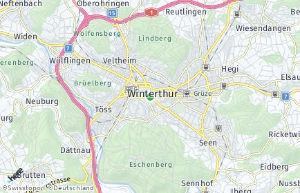 Stadtplan Winterthur