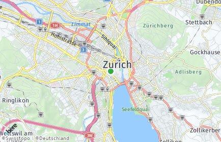 Stadtplan Zürich OT Fluntern