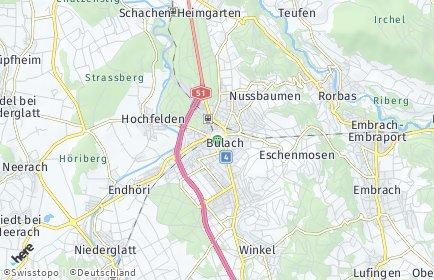 Stadtplan Bülach