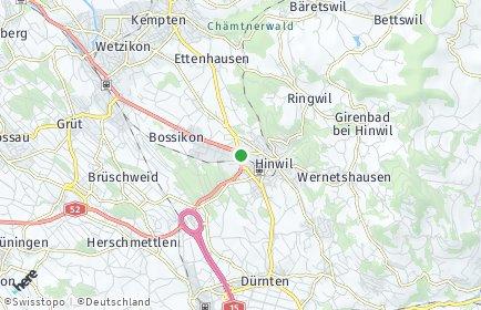 Stadtplan Hinwil