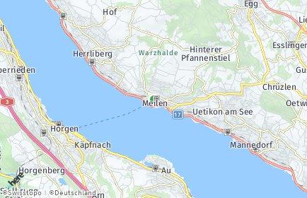 Stadtplan Meilen