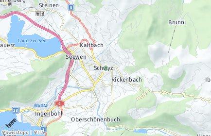 Stadtplan Schwyz