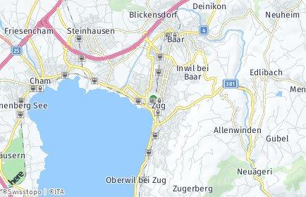 Stadtplan Zug