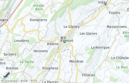 Stadtplan Glane/Glâne