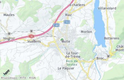 Stadtplan Greyerz/Gruyère