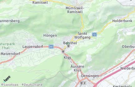 Stadtplan Thal