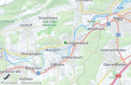 Stadtplan Gösgen
