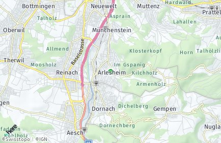 Stadtplan Arlesheim