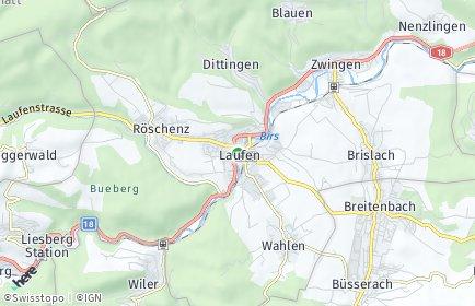 Stadtplan Laufen