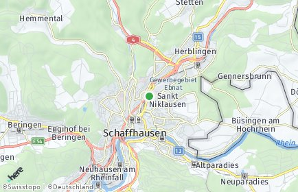 Stadtplan Schaffhausen