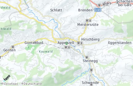 Stadtplan Appenzell Innerrhoden