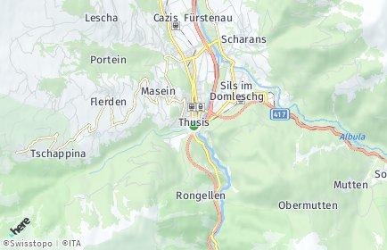 Stadtplan Hinterrhein