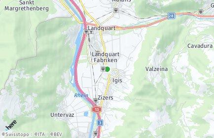 Stadtplan Landquart