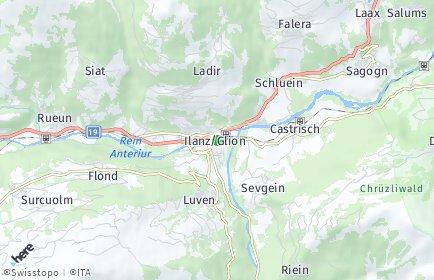 Stadtplan Surselva