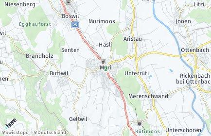Stadtplan Muri