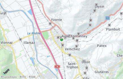 Stadtplan Aigle