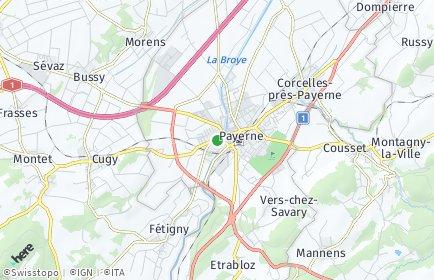 Stadtplan Broye-Vully