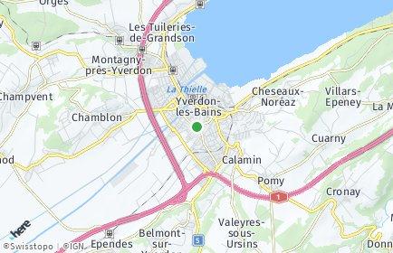 Stadtplan Jura-Nord vaudois
