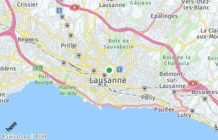 Stadtplan Lausanne