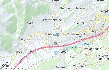 Stadtplan Conthey