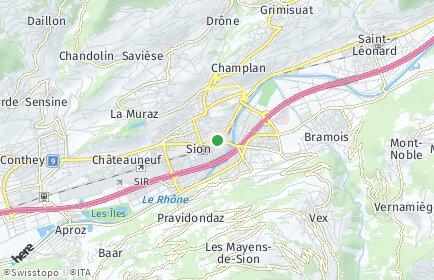 Stadtplan Sion