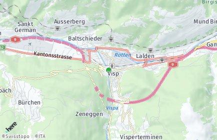 Stadtplan Visp