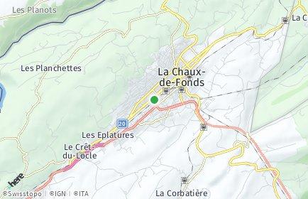 Stadtplan La Chaux-de-Fonds