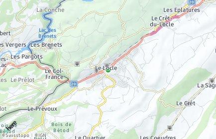 Stadtplan Le Locle