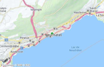 Stadtplan Neuenburg / Neuchâtel