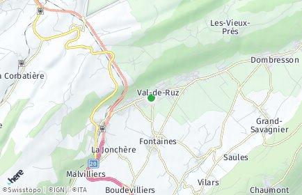 Stadtplan Val-de-Ruz