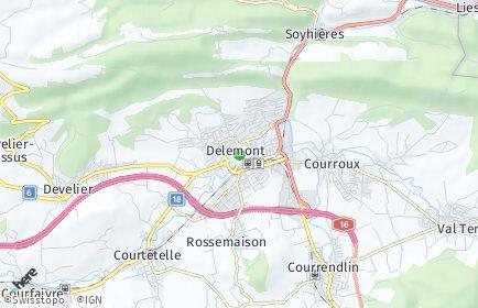 Stadtplan Delsberg/Delémont