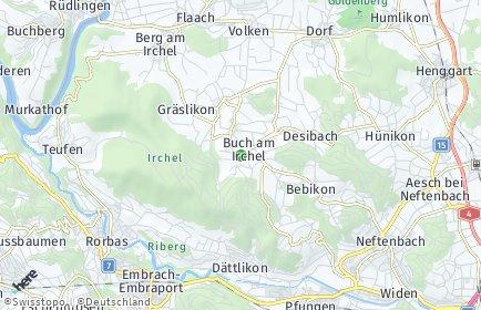 Stadtplan Buch am Irchel
