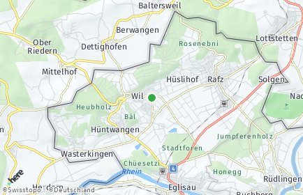 Stadtplan Wil (ZH)