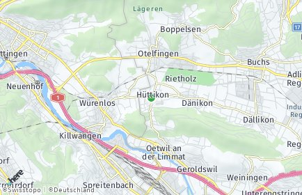 Stadtplan Hüttikon