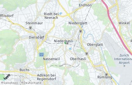 Stadtplan Niederhasli OT Oberhasli
