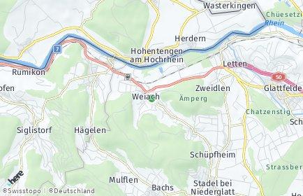 Stadtplan Weiach