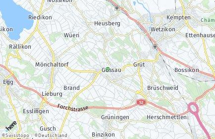 Stadtplan Gossau (ZH) OT Brüschweid