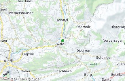 Stadtplan Wald (ZH) OT Güntisberg-Mettlen
