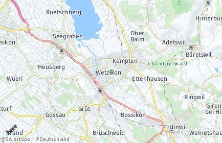Stadtplan Wetzikon (ZH) OT Ettenhausen